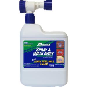 30 Seconds Spray & Walk Away Concentrate Lichen Moss Mold & Algae Hose End 5ea/64 oz