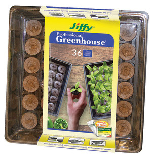 Jiffy Greenhouse Cells with Superthrive Labels 36MM 16ea/36 Cells