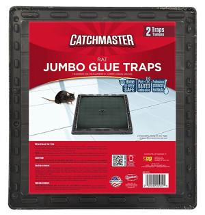 Catchmaster Rat Glue Traps Pre-Baited 12ea/2 pk