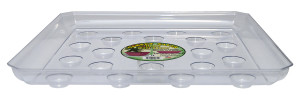 Curtis Wagner Plastics Square Carpet Saver Heavy Footed Saucer Clear 25ea/14 in