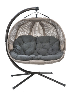 FlowerHouse Hanging Dreamcatcher Patio LoveSeat Contemporary Sand 1ea/66 In X 50 In X 43 in