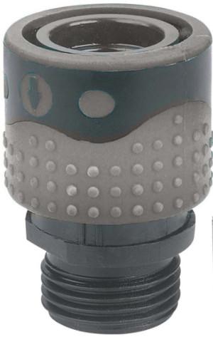 Gilmour Light Duty Faucet Quick Connector Female Female Grey 12ea