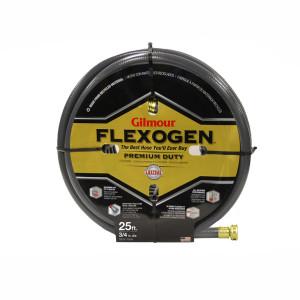 Gilmour Flexogen Premium Hose Heavy Duty Black 5ea/3/4Inx25 ft
