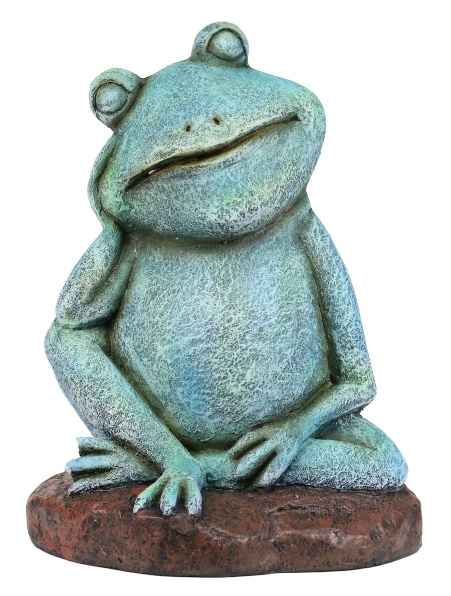 Alpine Pensive Frog Statue Green 1ea/One Size