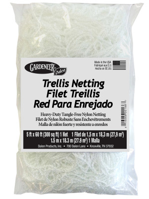 Dalen Gardeneer Trellis Netting Mesh White 12ea/5Ftx60Ft 7 in