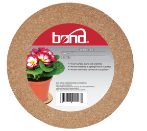 Bond Cork Saucers Brown 12ea/12 in