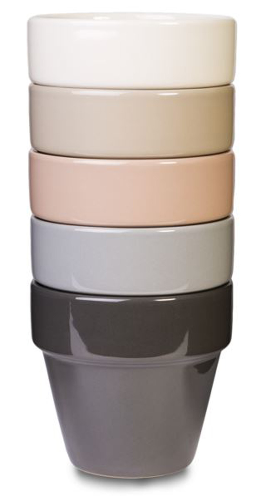 Pennington Electric Pot Assortment Modern Classics Oxford Tan, Warm Taupe, Wild Dove, Gargoyle, Bone White 6ea/7.25 in