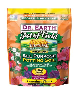 Dr. Earth Pot of Gold Premium All Purpose Potting Soil 12ea/4 qt