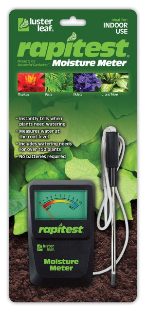 Luster Leaf Rapitest Moisture Meter Black 6ea/5 in