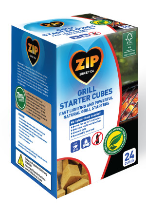 Zip Natural Grill Starter Cubes 12ea/24 ct