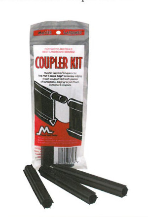 Master Mark Master Gardener Coupler Kit for Pro & Deep Edge Edging Black 18ea/3 pk