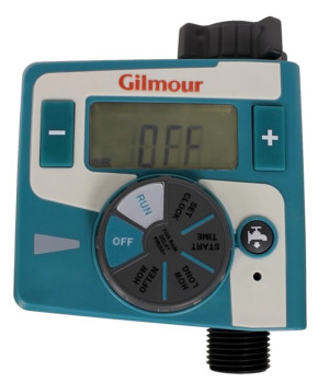 Gilmour Electronic Water Timer Single Outlet Blue 3ea/2 In X 7.13 In X 9 in
