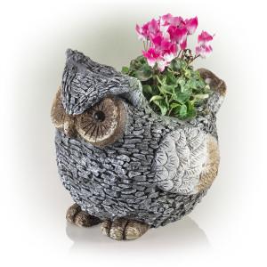 Alpine Owl Garden Planter 1ea/14 in