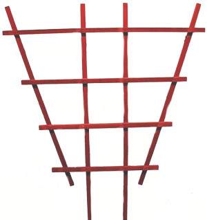 JJ Roberts Redwood Trellis Without Labels Flair Red 6ea/3 ft