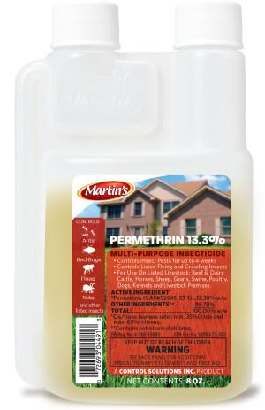 Control Solutions Martin's Permethrin 13.3% Multi-Purpose Insecticide Concentrate 12ea/8 fl oz