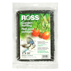 Ross Garden Netting & Bird Plant Protection Black 12ea/3Ftx50 ft