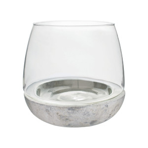 Syndicate Terrarium Cement Glass Crystal 6ea/6.75Inx6 in