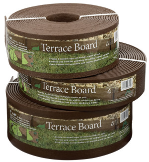 Master Mark Terrace Board Edging Brown 1ea/3Inx40 ft
