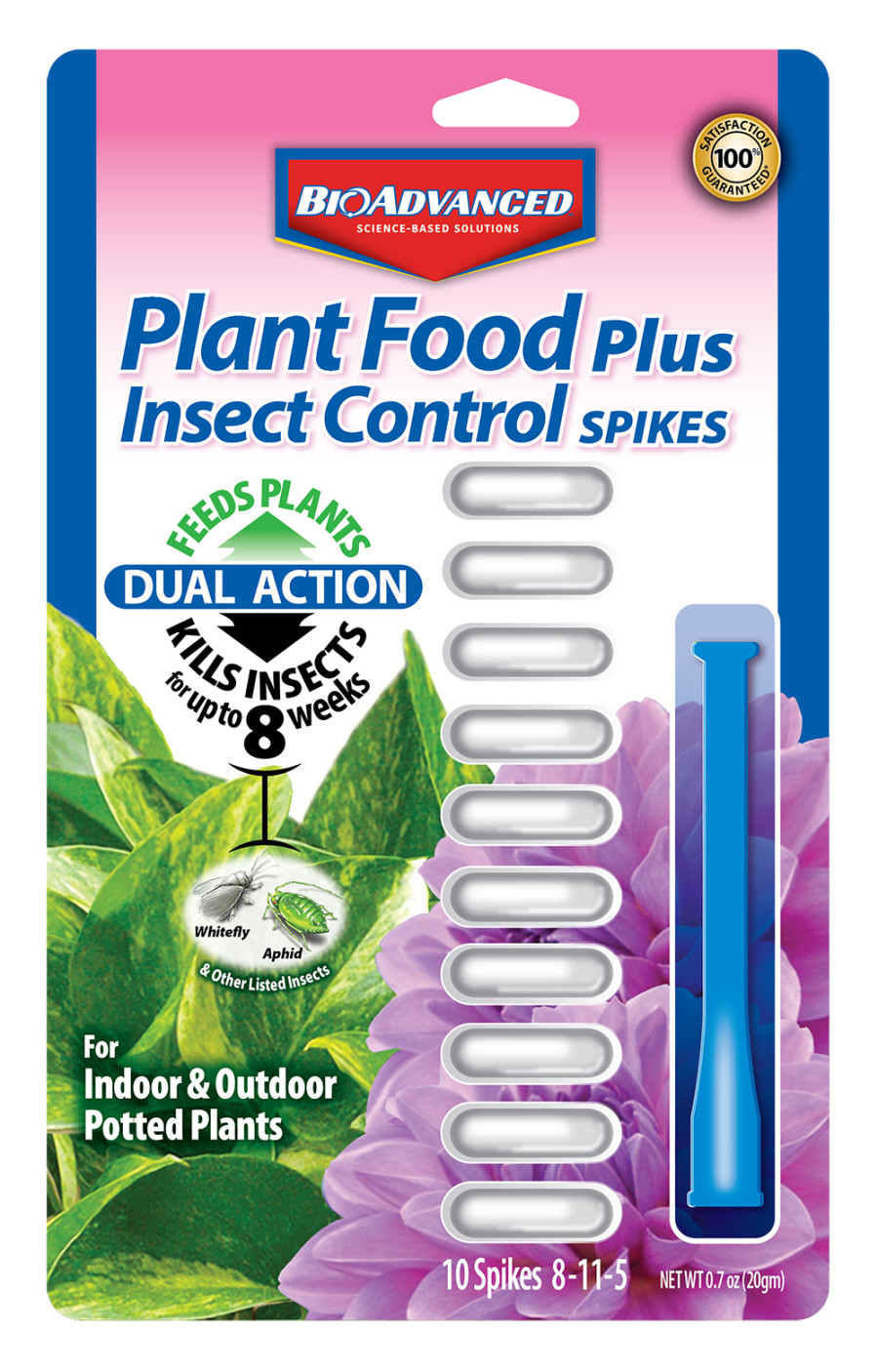 BioAdvanced Plant Food Spikes Plus Insect Control 12ea