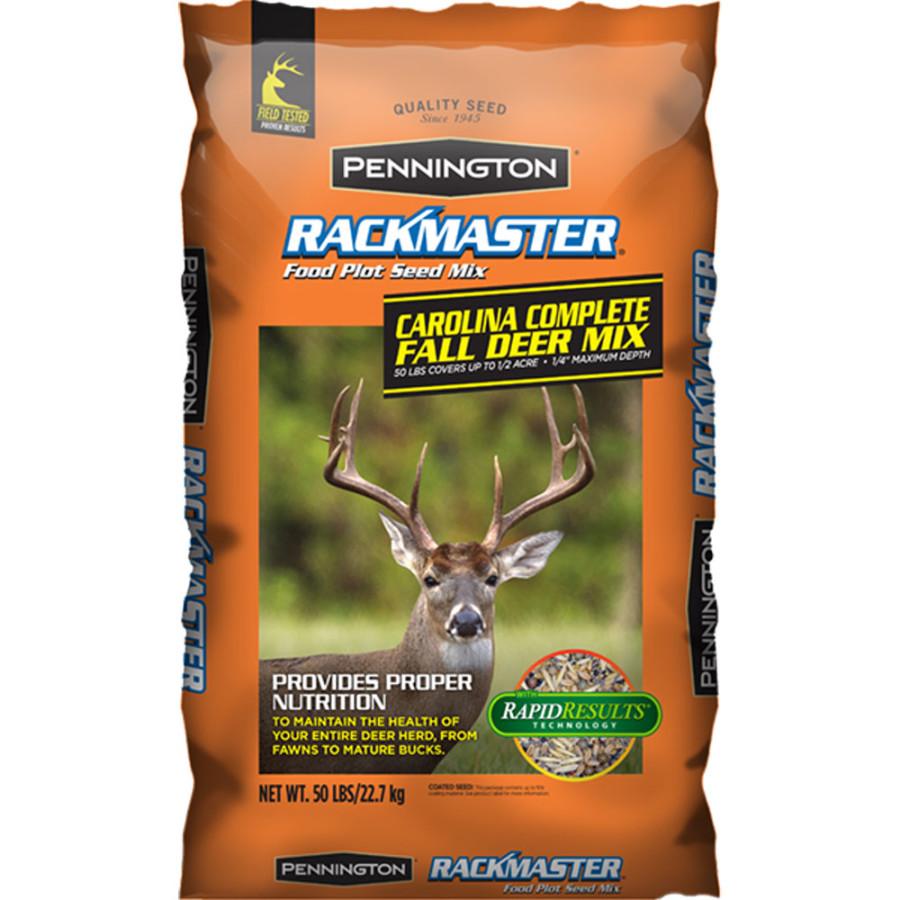 Pennington Rackmaster Carolina Complete Fall Deer Mix Food Plot Seed 1ea/50lb 1ea/50 lb