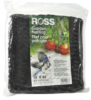 Ross Tree Netting & Bird Plant Protection Black 9ea/14Ftx45 ft