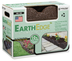 Valley View Earth Edge Rubber Edge And Poly Nails Dark Brown 2ea/10 ft