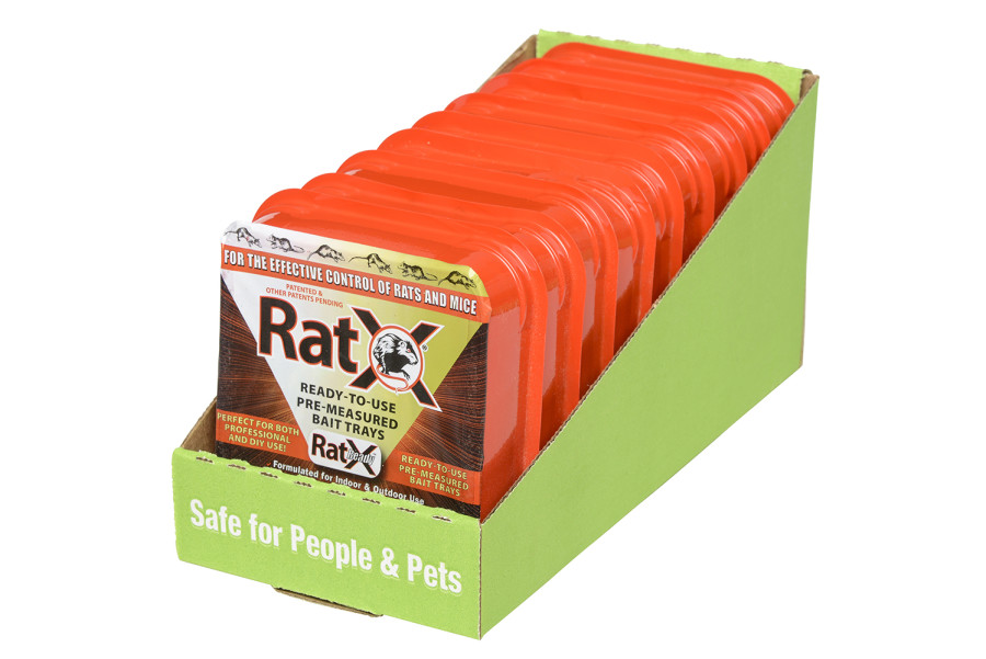 RatX Rat and Mouse Ready To Use Bait Tray