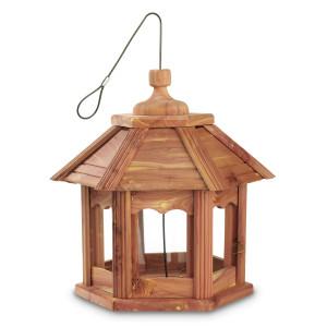 Pennington Cedar Gazebo Bird Feeder Red, Brown 2ea/12.75 X 12.75 X 12.50