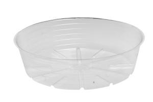 Bond Deep Dish Plastic Saucer Clear 25ea/15 in