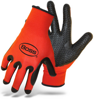 Boss Tread Pattern Palm Black, Red 6ea/Large