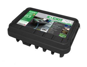 SOCKiTBOX Weatherproof Powercord Connection Box Black 10ea/Medium