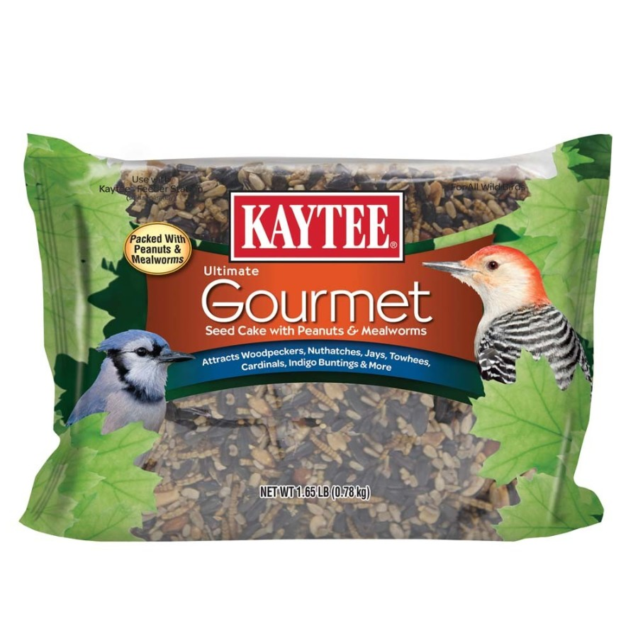 Kaytee Ultimate Gourmet Seed Cake with Peanuts & Mealworms 6ea/1.65 lb
