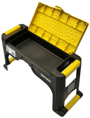 Centurion Multi-Purpose 3-in-1 Garden Bench Kneeling Cushion Storage Black, Yellow 7ea/19.69 In X 7.87 In X 10.23 in