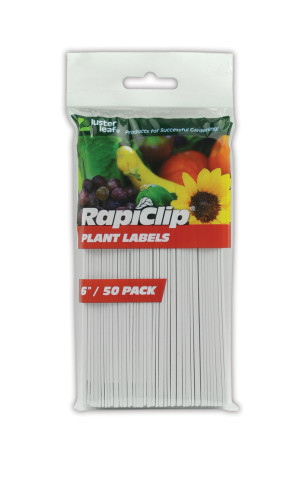 Luster Leaf Rapiclip Plant Labels White 12ea/50Pk 6 in