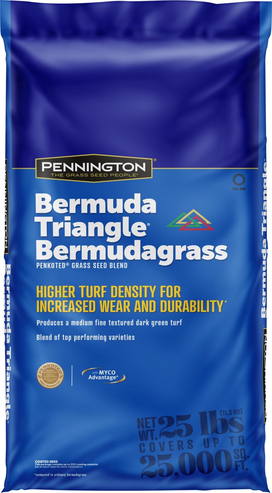 Pennington Bermuda Triangle Certified Bermudagrass Seed Blend with MYCO 1ea/25 lb