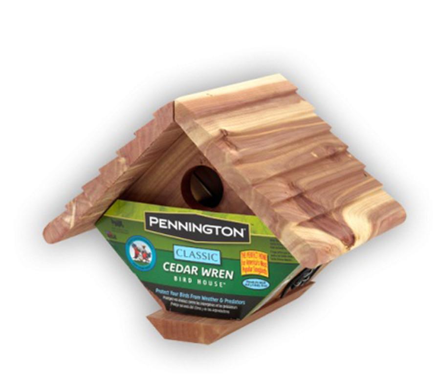 Pennington Classic Cedar Wren Bird House Red 2ea/7.75 X 6.75 X 6.50 in