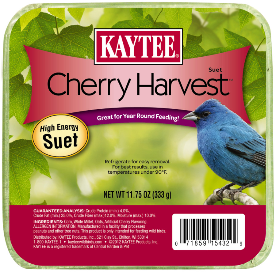 Kaytee Cherry Harvest High Energy Suet 12ea/11.75 oz