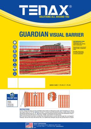 Tenax Guardian Economy Warning Barrier Orange 1ea/4Ftx100 ft
