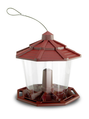 Pennington Earth Smart Recycled Ecozebo Bird Feeder Red 3ea