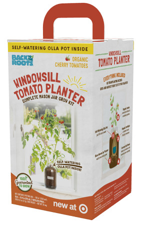 Back to the Roots Windowsill Planter Organic Cherry Tomato 1ea