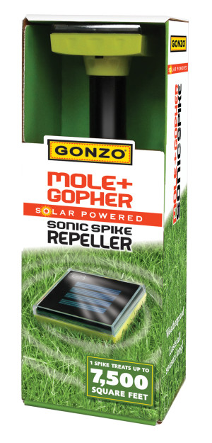 Gonzo Mole & Gopher Solar Powered Sonic Spike Repeller 12ea/11.5 In X 2.75 in