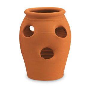 New England Pottery 2 Gallon/6-Pocket Strawberry Jar Terra Cotta 1ea/7.25 in