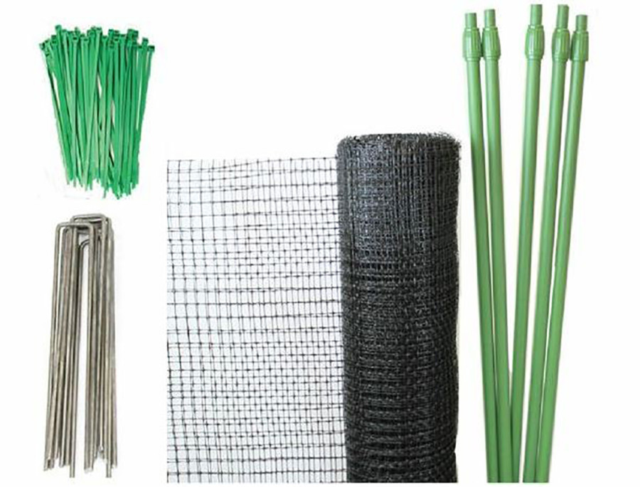 Tenax Deer Net Folded Kit Black 1ea/7Ftx100 ft