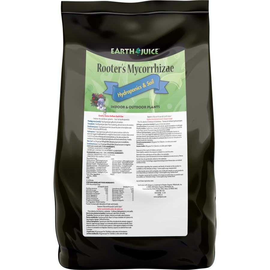 Earth Juice Rooters Mycorrhizae Mycorrhizal Fungi 9ea/4 lb