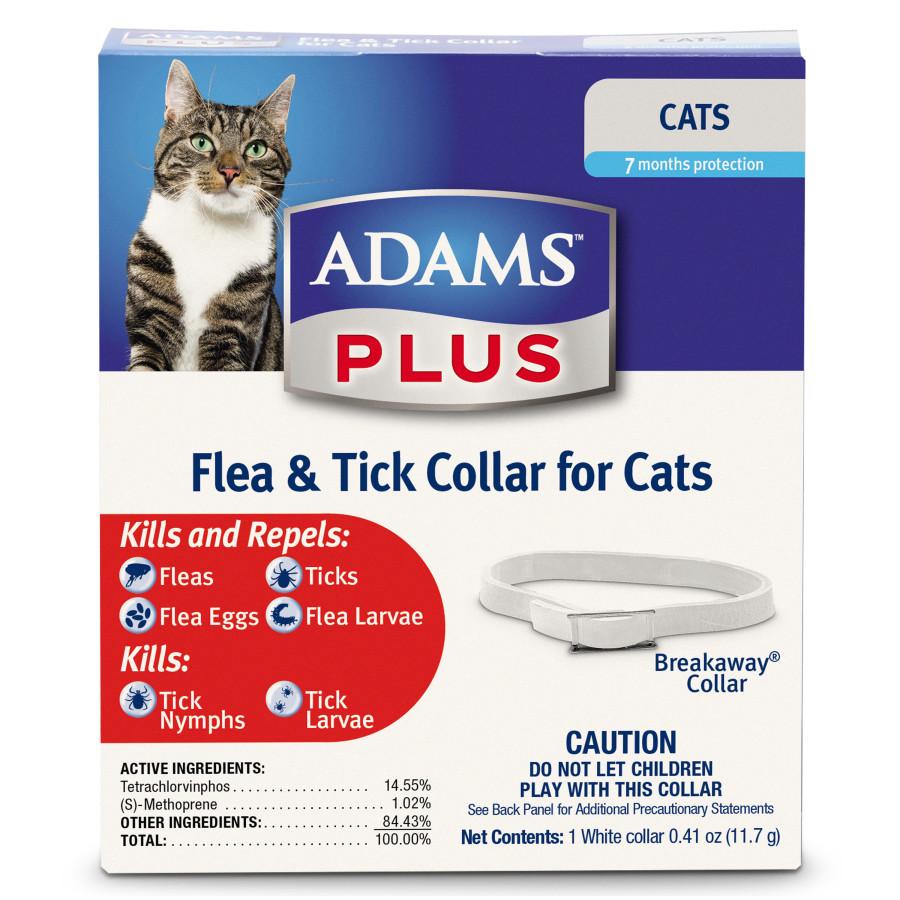 Adams Plus Flea & Tick Collar for Cats 24ea/1 pk
