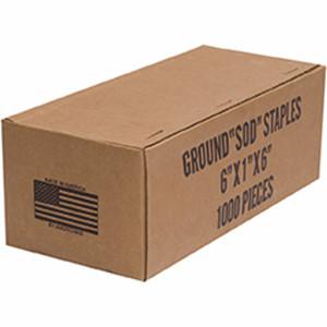 Easy Gardener Fabric Ground Sod Staples Silver 1ea/6Inx1Inx6In 1000 pk