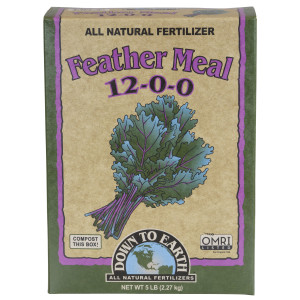 Down To Earth Feather Meal Natural Fertilizer 12-0-0 OMRI 6ea/5 lb