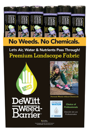 DeWitt 3-Year Weed-Barrier Landscape Fabric Black 18ea/3Ftx100 ft
