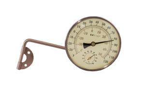 E-Z Read Rubbed Bronze Metal Oil Thermometer Hydrometer Bronze 6ea/4 in