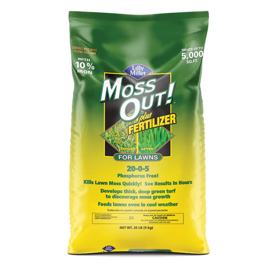 Lilly Miller Moss Out! For Lawns Plus Fertilizer No Phosphorous 20-0-5 1ea/20 lb